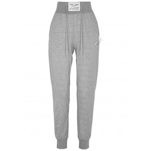 Adam Selman Sport Women's Tops Grey metallic stretch-jersey sweatpants size XL Brand SC422519