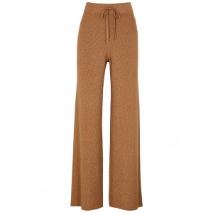 A.L.C. Girl's Quentin metallic-weave ribbed-knit trousers Size L Trends SC417713