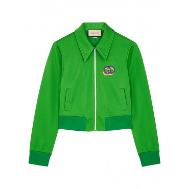 Gucci Green jersey track jacket Fluffy Boutique SC426979